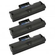 ZipZap D101S Pack 3 Tóners Compatibles Samsung Negro