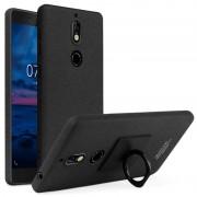 Capa com Protector de Ecrã e Anel Imak para Nokia 7 - Preto Mate