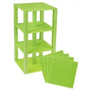 "Strictly Briks Classic Baseplates 6"" x 6"" Brik Tower by 100% Compatible with All Major Brands 