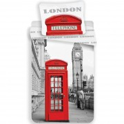 Lenjerie de pat London Telephone, 140 x 200 cm, 70 x 90 cm