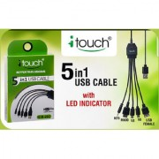 itouch ICB-202 5 in 1 Charging USB Mobile Charging Cable (1 Pc)