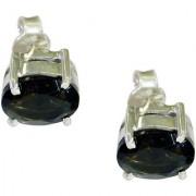 Riyo Smoky Quartz Silver Gemstone Jewelry Dangle Earring L 0.3in Sesqu-76023