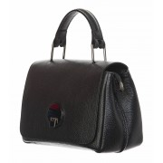 DELIA REI Borsa donna in vera pelle, DELIA REI, mod EVELIN colore nero, Made in Italy.