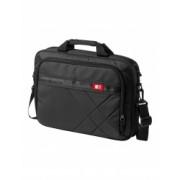 Geanta Laptop/Tableta Case Logic by AleXer LN 15.6 inch 600D poliester negru breloc inclus din piele ecologica si metal