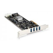 StarTech .com 4 Port PCI Express (PCIe) SuperSpeed USB 3.0 Card Adapter w/ 4 Dedicated 5Gbps Channels UASP SATA / LP4 Power