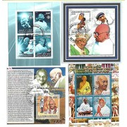 Stamps Teresa Gandhi Pope Peace Africa MS Miniature Sheets 4 Different CTO