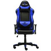 Silla gamer Yeyian YAR-9863A Cadira 1150, reclinable color azul/negro, 4D, poliuretano, hasta 150KG