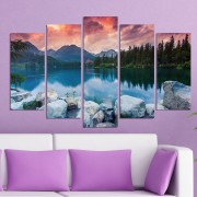 Декоративeн панел за стена с красив планински пейзаж Vivid Home