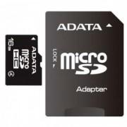 MICRO SD 16GB AData + SD adapter AUSDH16GCL4-RA1