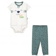 Petit Béguin Ensemble bébé garçon body T-shirt + pantalon Baby Jungle - Taille - 6 mois