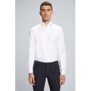 Strellson Chemise en coton Sereno à motif chevrons, en blanc taille: 39
