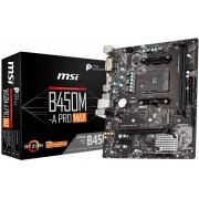 Matična ploča MSI B450M-A_PRO_MAX (SAM4, 2xDDR4, 1xPCI-Ex16, 1xPCI-Ex1,6 x USB3.2, 6 x USB2.0, 4xSATA III, M.2, DVI-D, HDMI, GLAN) mATX Retail