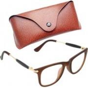 Royce Wayfarer, Retro Square, Rectangular Sunglasses(Clear, Brown)
