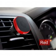 BASEUS Privity Series Pro 360 Degree Car Phone Holder Universal Magnetic Genuine Leather Air Vent Mount - Red