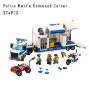 Models building toy 02017 347Pcs URBAN Series Police Mobile Command Center Building Blocks Compatible with lego 60139