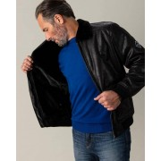 Gentlemen Selection Lederimitat-Jacke schwarz male 54