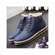 Hombre Botas zapatos para invierno Fashion-cool-Azul