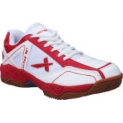 Vector X TS-1045-White Red Badminton Shoes(White, Red)