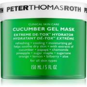 Peter Thomas Roth Cucumber De-Tox feuchtigkeitsspendende Gel-Maske für Gesicht und Augenpartien 150 ml