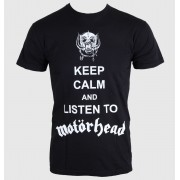 tricou stil metal bărbați femei unisex Motörhead - Keep Calm - ROCK OFF - MHEADTEE23MB