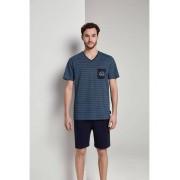 TOM TAILOR Pyjama met Gedessineerd T-Shirt, blue-medium-allover, 54/XL
