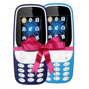 Combo of IKall K3310 (Dual Sim 1.8 Inch Display 800 Mah Battery Made In India Blue and Sky Blue)
