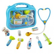 Jerryvon Doctor Kit Pretend Play Medical Set Case Doctor Nurse Game Playset Gift for Kids Boys Girls Over 3 Years Old