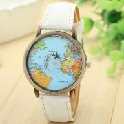 2018 Fashion Men Watch Women Print World Map Luxury Brand Women Clock Gift Analog Quartz Watches Relogio Feminino