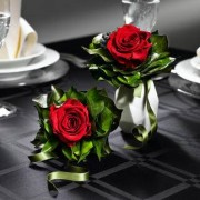 Duftendes Rosen-Bouquet, Bordeauxrot - 1 Rose