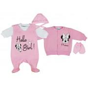 Disney Minnie lány újszülött 5 részes, belül bolyhos szett Hello Girl!