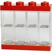 LEGO Mini Figure Display (8 Minifigures) - Bright Red