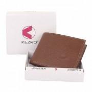 KEZRO Bi-Fold PU Leather Wallets for Men - Mens Wallet with ID Window
