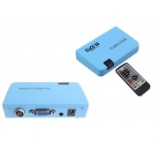 External TV Tuner / Converter - Convert Digital RF (DVB-T) to VGA or DVB-T RF to AV Video (Settop Box - STB to VGA) incl UHF/VHF Scanner