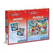 Clementoni Puzzle i Igra memorije 60 kom Planes (18168)