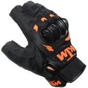 OMCY Imported KTM Inspired Motorcycle Racing Ridding KTM HALF Gloves Orange Black XL