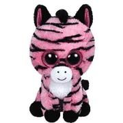 Ty Beanie Boo Plush Stuffed Animal Zoey Pink & Black Zebra 6
