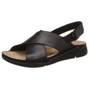Clarks Women's Black Leather Fashion Sandals - 4 UK/India (37 EU)