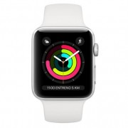 Apple Watch Series 3 GPS 38mm Aluminio Plata Con Correa Deportiva Blanca