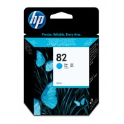 HP No 82 Cyan Ink Cartridge Used in the DesignJet 500/800 printer series.
