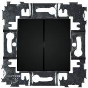 SOPIA Treppenhaus Doppellichtschalter (schwarz-matt) 159396