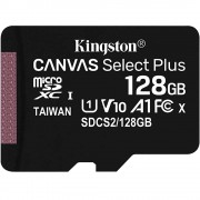 Card Memorie MicroSD Canvas Select class 10 UHS-I 100mb/s 128GB KINGSTON