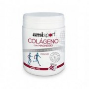 Ana María Lajusticia Colágeno Com Magnésio + Vitamina C + Vitaminas B1, B2 e B6 Pulverizado Sabor Morango AMLsport 350 g