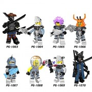 Generic 8pcs Super Hero Ninja Figure Garmadon Shark Army Great White Puffer Lead Crab Jerry Hamer Building Blocks Toys for Children PG8077