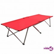 vidaXL Krevet za kampiranje 206 x 75 x 45 cm XXL crveni