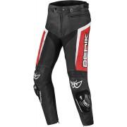 Berik Misle Motocyklové kožené kalhoty 50 Černá Bílá červená