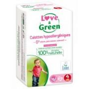 Love & Green Culottes Hypoallergéniques 20 Culottes Taille 4 (8-15 kg) - Sachet 20 culottes