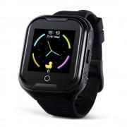 Ceas Inteligent pentru copii WONLEX KT11 4G Negru, cu GPS, apelare video, rezistent la apa, localizare WiFI si monitorizare spion