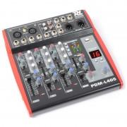 Power Dynamics PDM-L405, 4-канален миксажен пулт, USB, AUX (Sky-171.166)