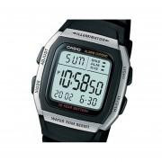 Reloj Casio W-96H-1A-Negro Bisel Plata