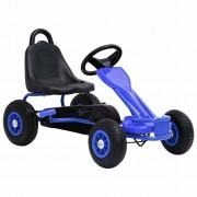 vidaXL Go-Kart s Pedalama i Pneumatskim Gumama Plavi